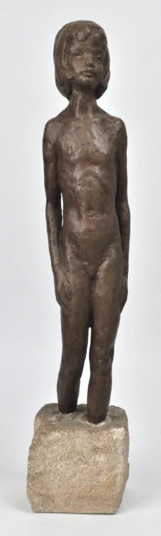 Meisje een beeld van terracotta op een stenen sokkel jordaens n v veilinghuis - Terracotta sokkel ...