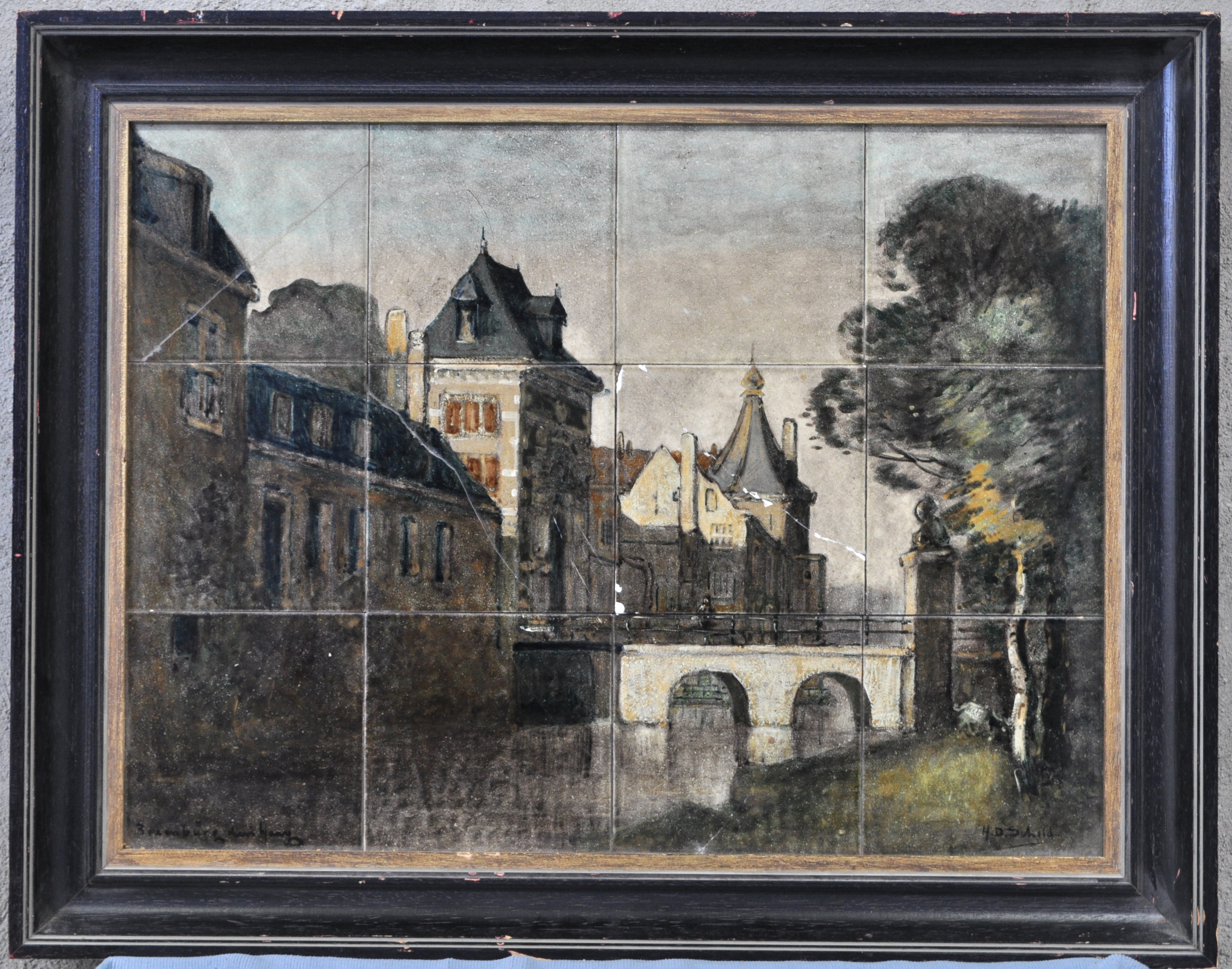 Tegels Den Haag : Stadzicht getiteld mauritspoort den haagu201d. tegeltableau. 12 tegels
