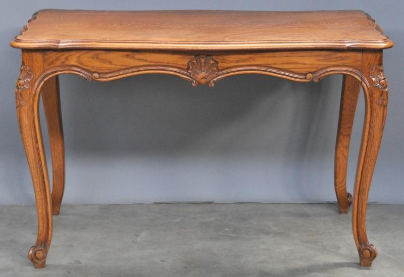 Een salontafel van gebeeldhouwd eikenhout in lodewijk xv stijl jordaens n v veilinghuis - Garderobe stijl van lodewijk xv ...