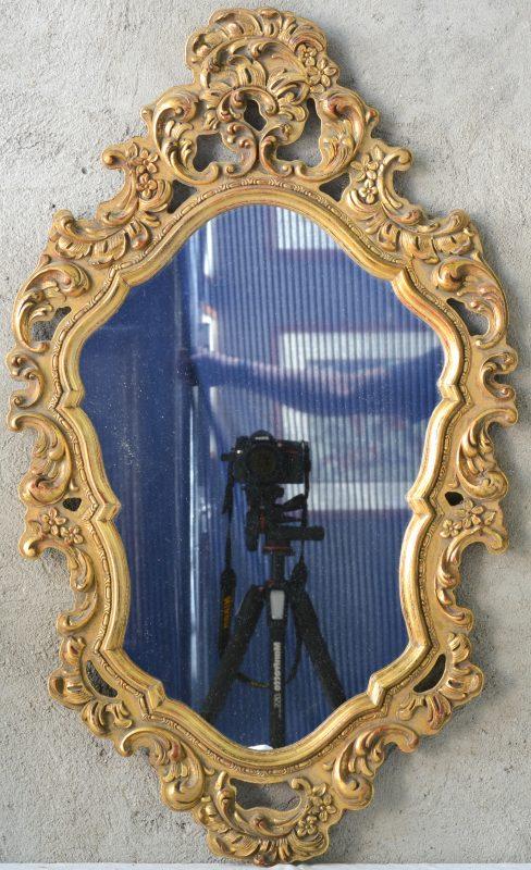 Een spiegel van verguld hout in lodewijk xv stijl jordaens n v veilinghuis - Garderobe stijl van lodewijk xv ...