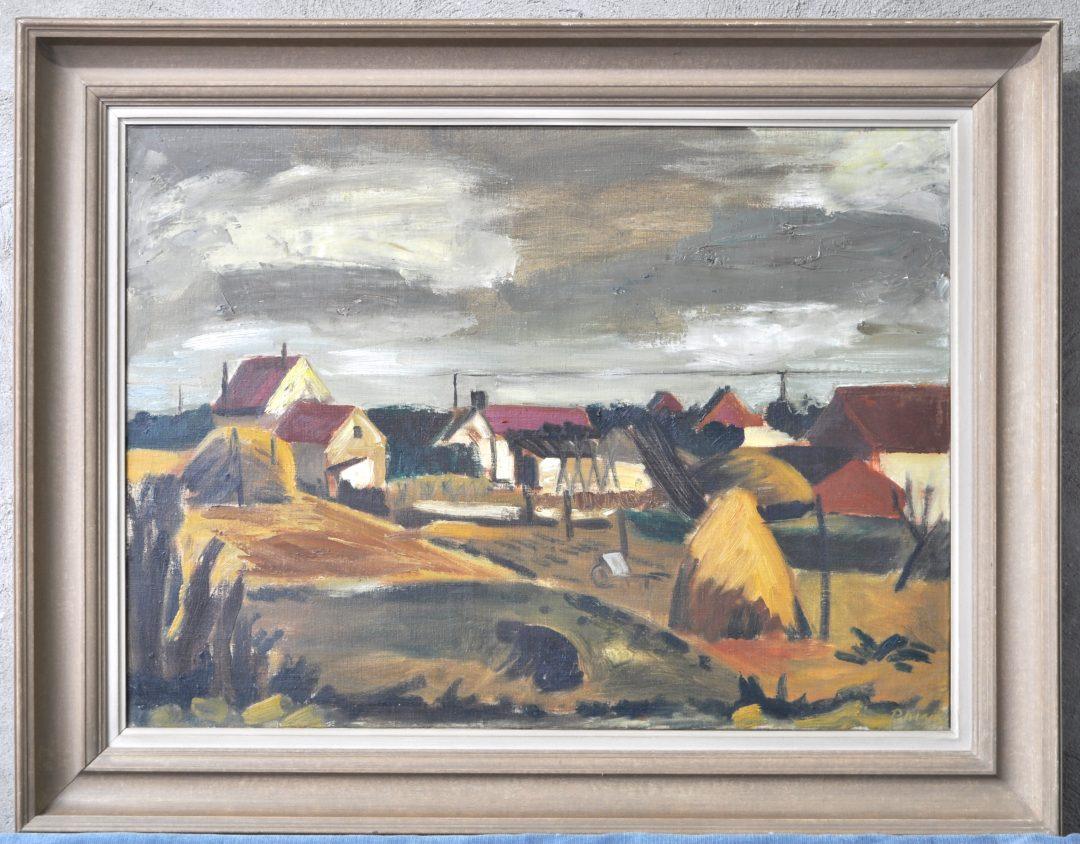 Landbouwer in een landschap olieverf op doek gesigneerd jordaens n v veilinghuis - Hang een doek ...