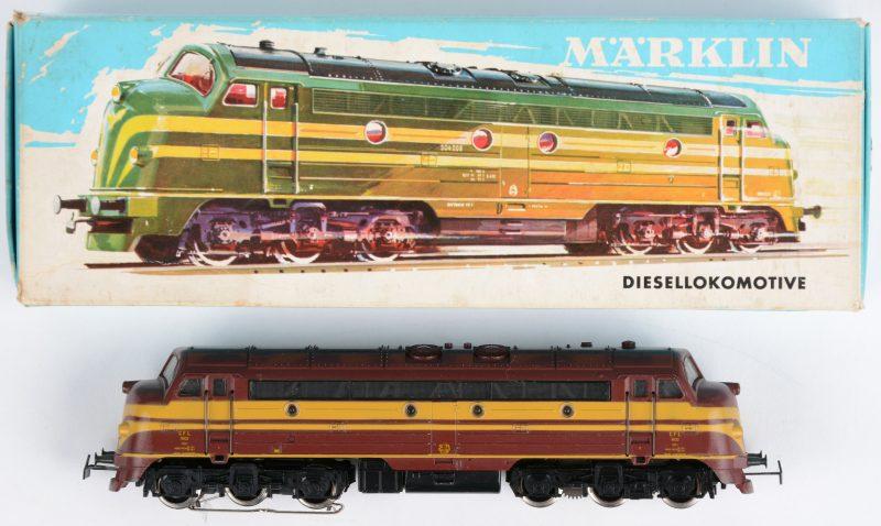 Diesellocomotief model 3063 voor spoortype HO. Originele beschildering van de Luxemburgse spoorwegen. In originele doos.