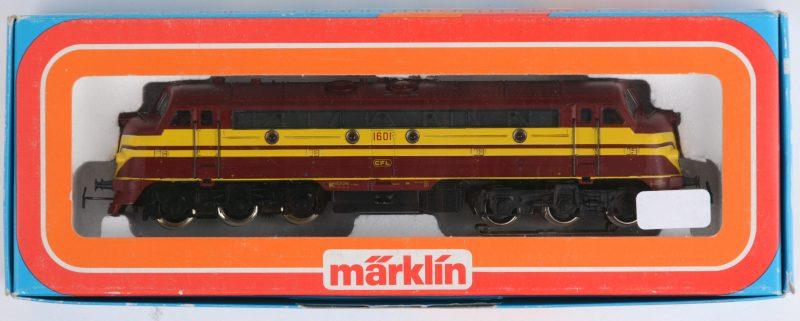 Diesellocomotief model 3134 voor spoortype HO in originele doos.