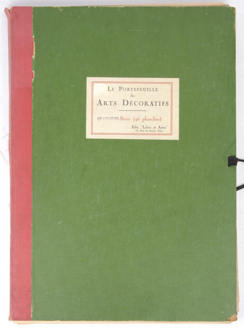 """""""Le Portefeuille des Art Décoratifs."""" 'Quatrième année' uitgave. Bestaande uit 96 Phototypieën."""