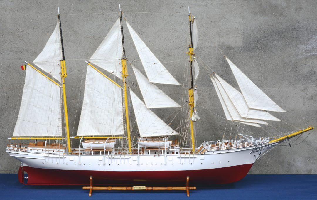 """""""Schoolschip Mercator 1932"""". Maquette."""