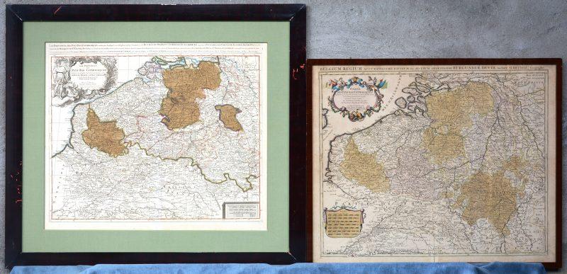 """Een paar landkaarten getiteld """"Carte des Pays bas Catholiques."""" in verschillende uitvoering."""