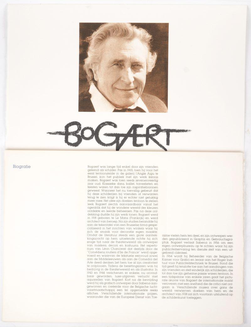 Een kunstmap met 8 zeefdrukken, genummerd 3/15 en gemarkeerd E.A. Begeleidende text in Frans en Nederlands.