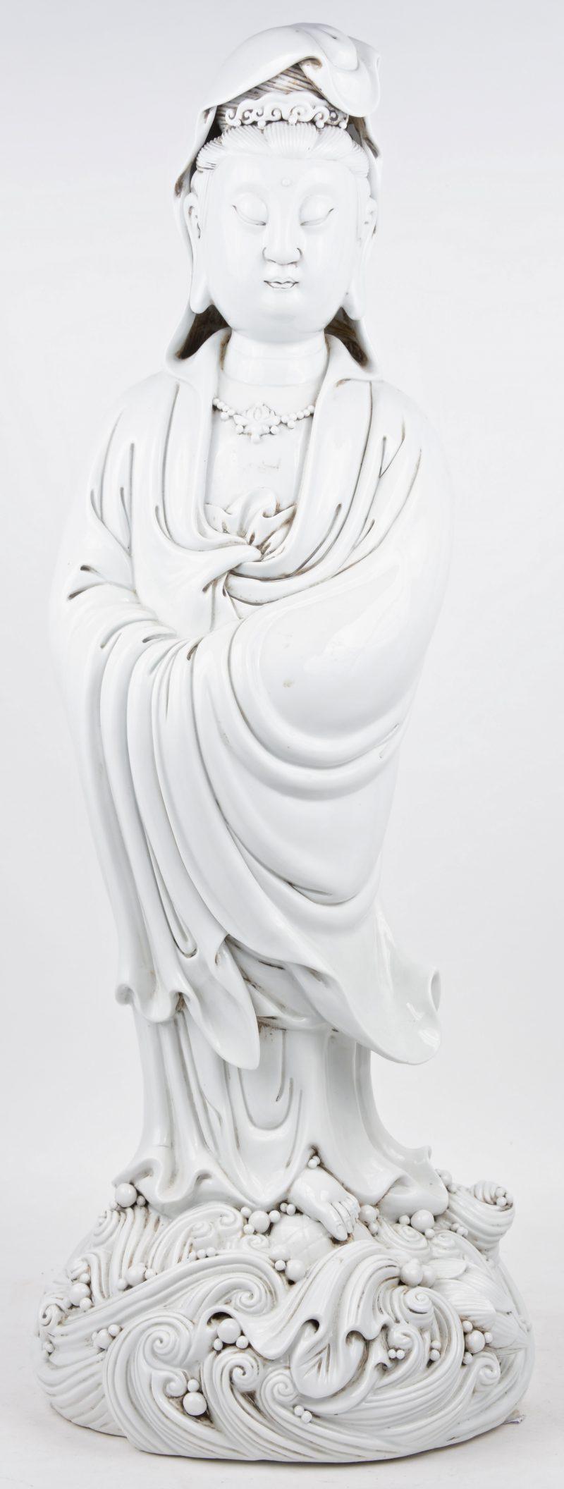 Een Quan Yin van Blanc de Chine.