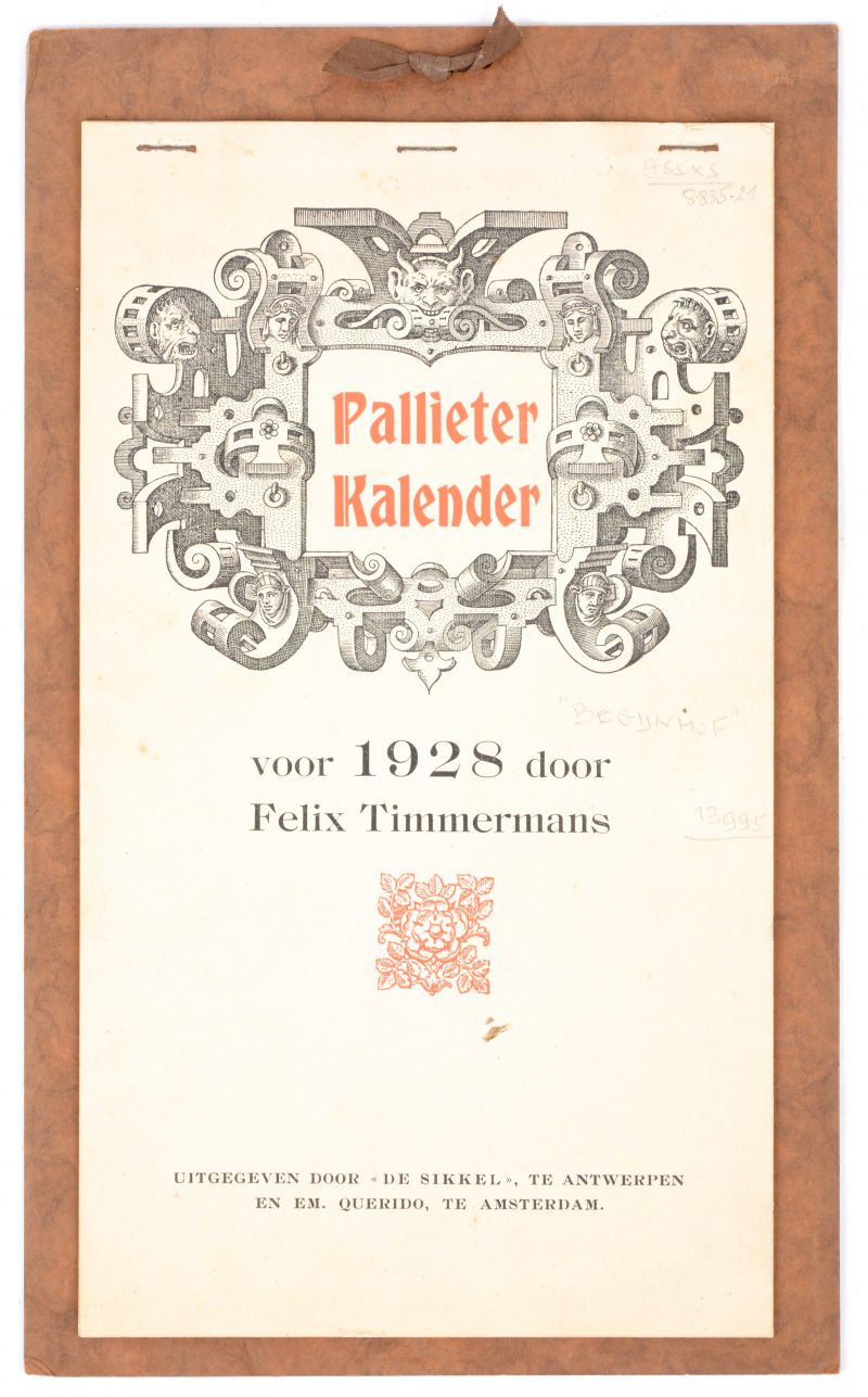 Pallieterkalender van het jaar 1928.