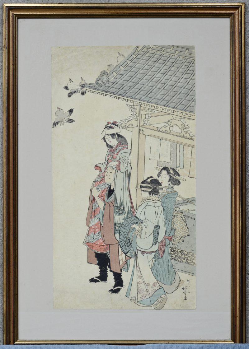 Een Japanse houtsnede door Horsai.