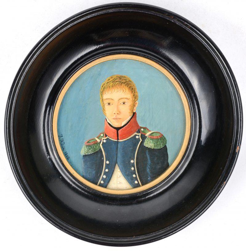 """""""Portret van Jean Baptiste Nicolle te 1812"""". Olieverf op paneel."""
