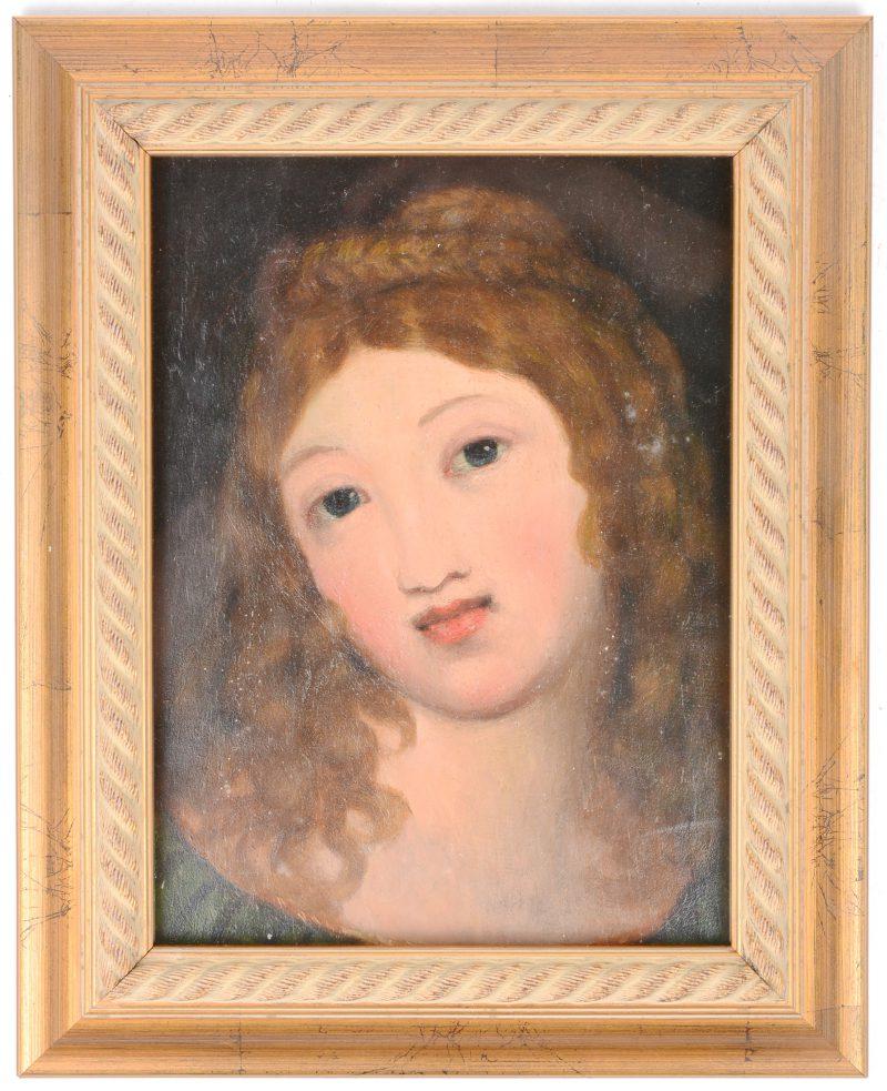 Een heren- en een damesportret. Tweezijdig geschilderd. Olieverf op paneel. Zonder signatuur.