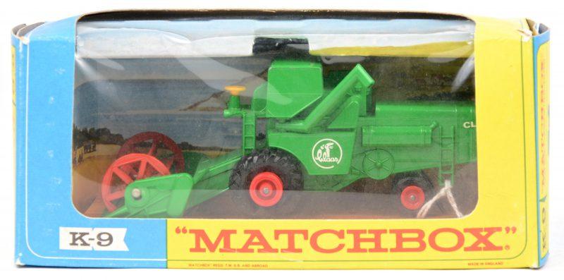 """""""Claas combine harvester"""". Een speelgoedvoertuig. Zeer goede staat. In originele doos."""