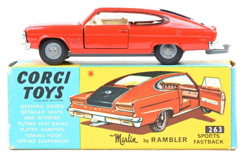 """""""Rambler Marlin sports fastback"""". Een speelgoedauto in originele doos. Bijna nieuwstaat."""