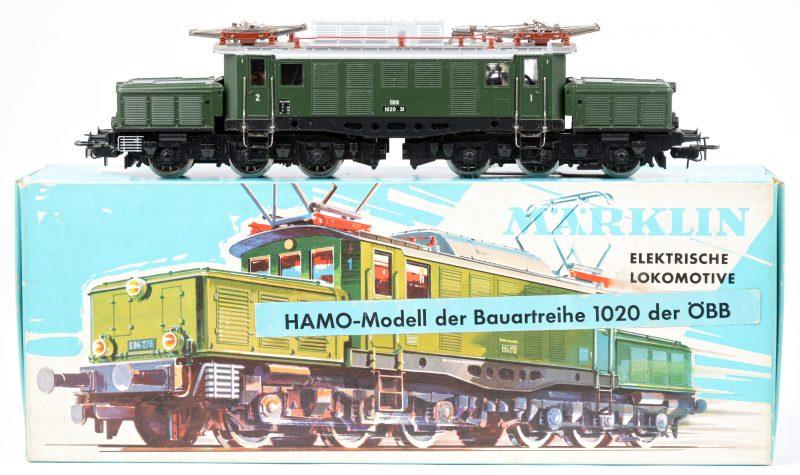 """Een elektrische locomotief """"Krokodil"""" BR 1020.31 van de ÖBB voor spoortype HO. In originele doos. Zeldzaam."""