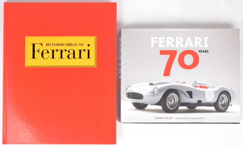 "Twee boeken overe Ferrari:- ""Ferrari 70 years"". Dennis Adler. Ed. Quarto publishing. 2016.- ""Het ultieme verhaal van Ferrari"". Brian Laban. Ed. Parragon. Bath, 2002."