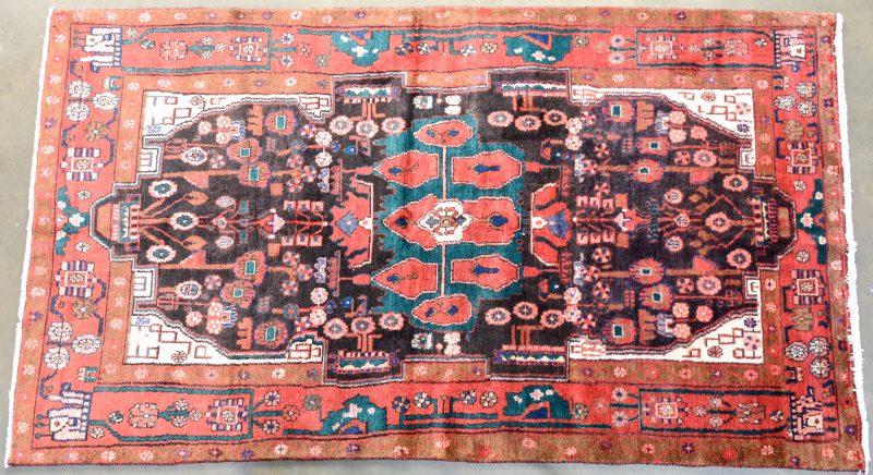 Wollen Perzisch tapijt. Handgeknoopt.