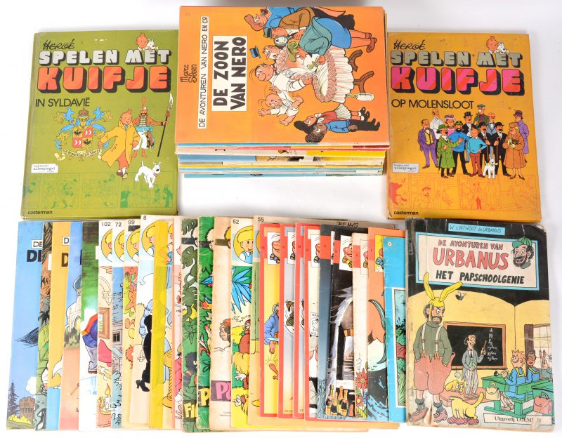 Een lot van 61 strips, grotendeels Nero en Jommeke. Jaren '70 en '80.