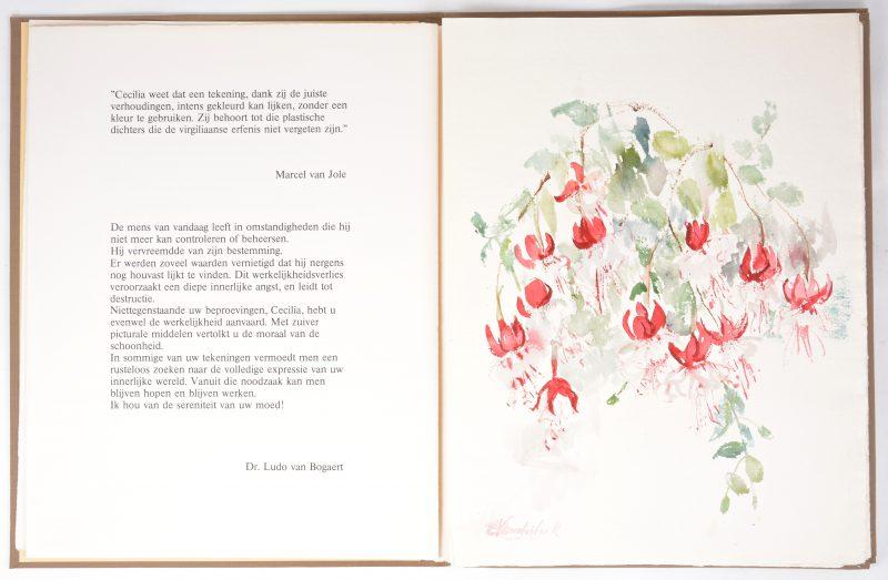 Een uitgave met vier losse zeefdrukken, zes gedichten en een originele aquarel. Uitgave 1 van 100 exemplaren met opdracht aan toenmalig Antwerps gouverneur Kinsbergen. Uitgave in samenwerking met De Zwarte Panter, 1981.