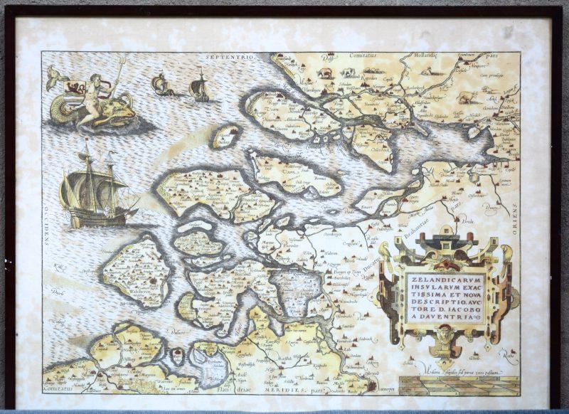 Een herdruk van een oude kaart van Zeeland.
