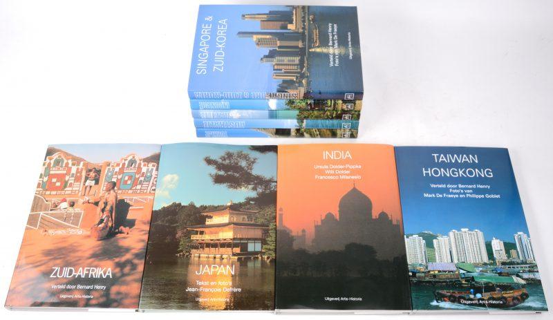 Negen boeken met landen als thema: Indonesië, Brazilië, Australiië, Turkije, India, Taiwan-Hongkong, Japan, Singapore & Zuid-Korea & Zuid-Afrika. Uitgeverij Artis-Historia. Jaren '90.