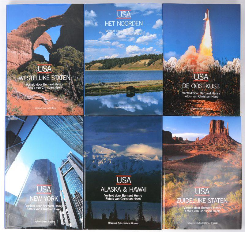 Een reeks boeken over de Verenigde Staten in zes delen: Zuidelijke staten, Alaska & Hawaii, New York, de oostkust, het noorden & de westelijke staten. Uitgeverij Artis-Historia. Jaren '90.