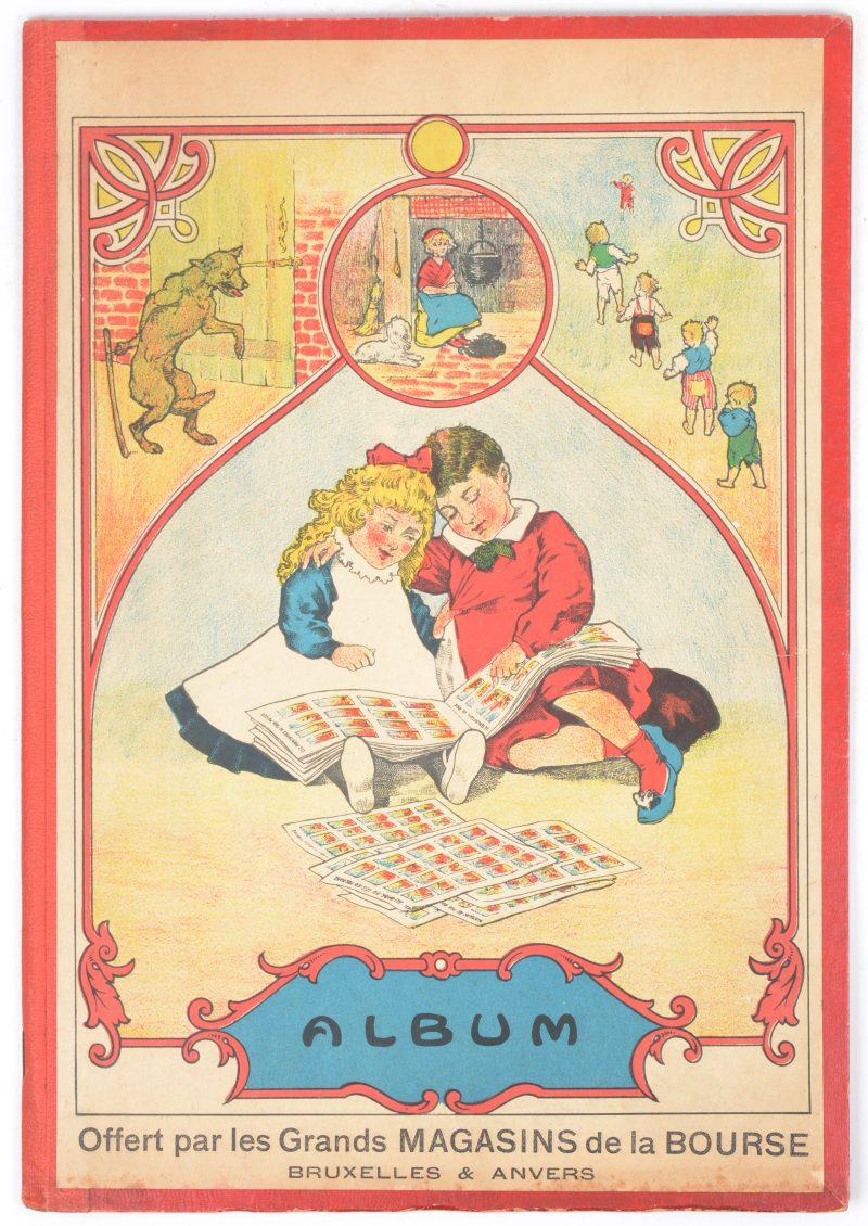 Een Franstalig sprookjesalbum, uitgegeven door 'Les grands magasins de la Bourse'.