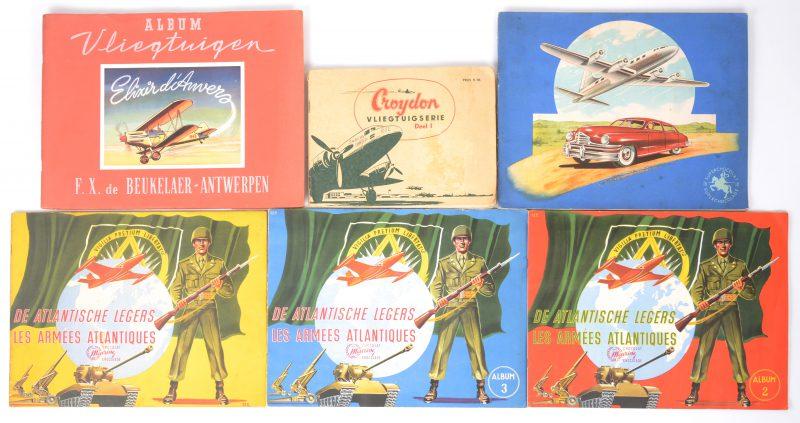 Een lot van zes chromo-albums. Meurisse, Jacques, De Beuckelaer,...