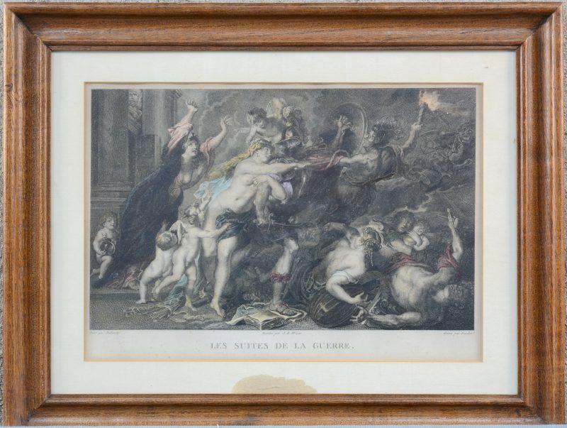 """""""Les Suites de la Guerre"""". Ingekleurde ets naar Rubens."""