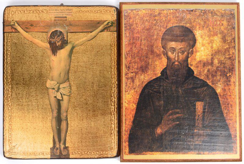 Een paar reproducties van Griekse iconen.