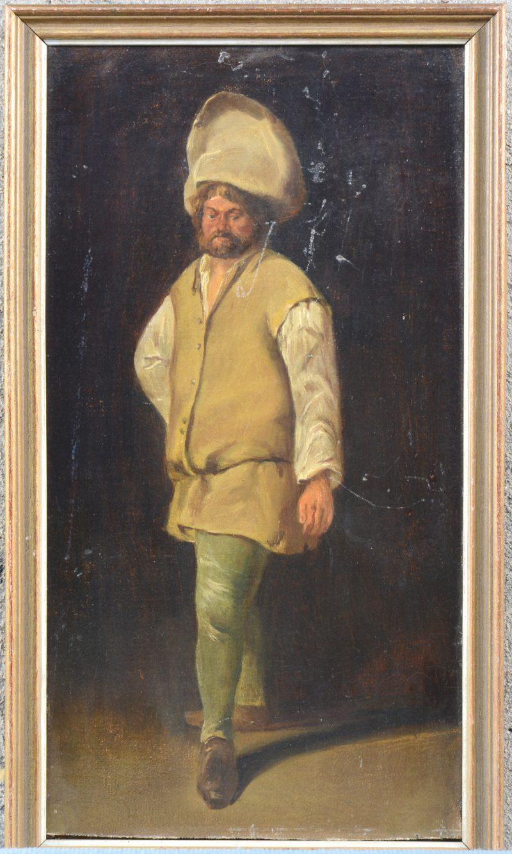 """""""Portret van een man"""". Olieverf op paneel. Naar de XVIIde eeuw."""