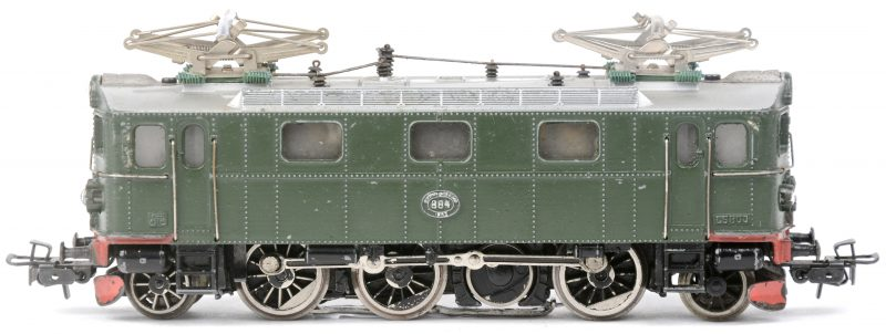 Een GS 800 elektrische locomotief van de Zweedse spoorwegen in de kleur groen. Schaal HO. Productieperiode 1957 - 1961.