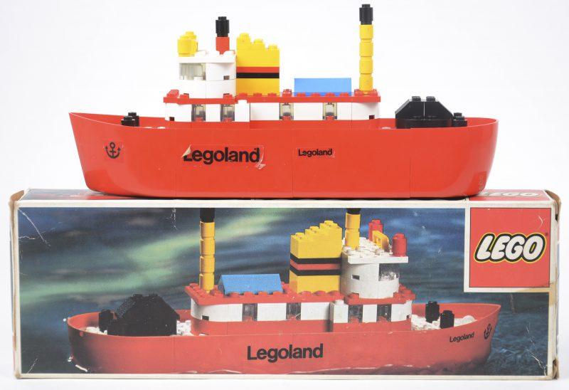 """""""Legoland sleepboot"""". Een bouwkit in origineel doosje. Met boekje. 1973."""