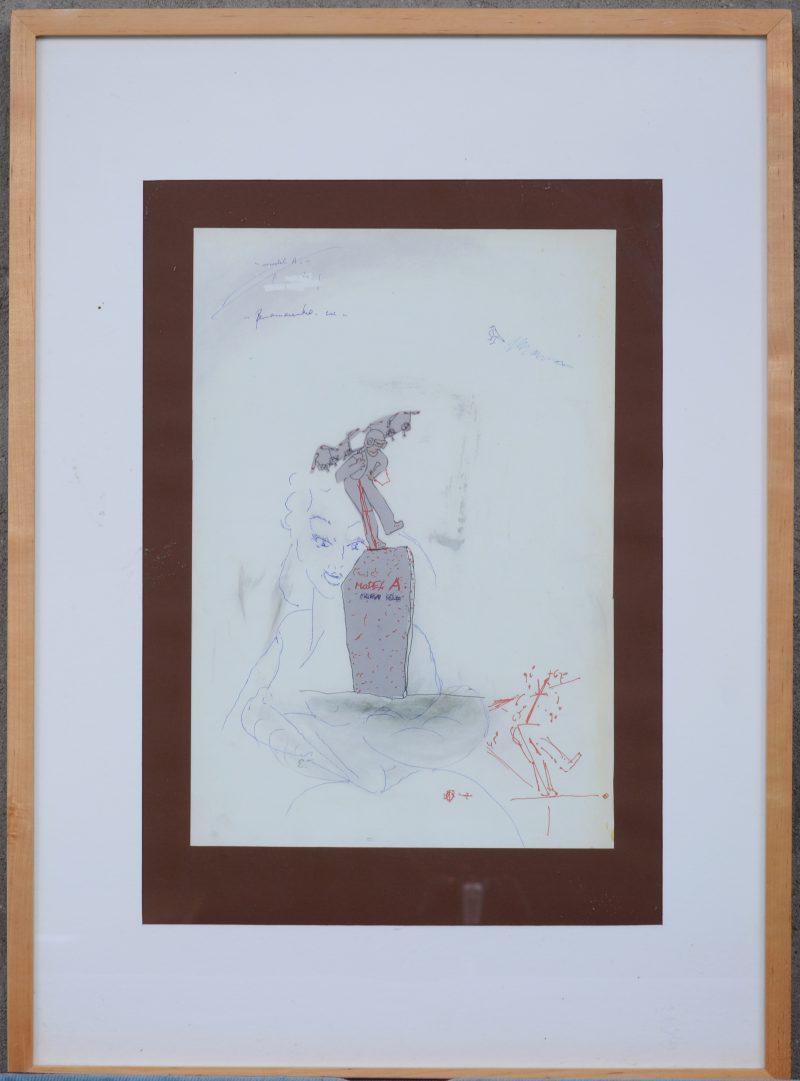 """""""Model A"""". Een poster naar een werk van Panamarenko."""