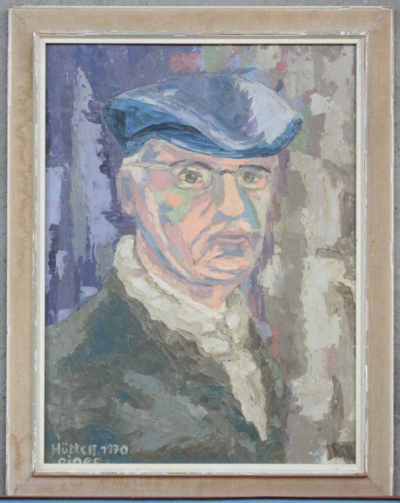 """""""Herenportret"""". Olieverf op paneel. Gesigneerd en gedateerd 1970."""