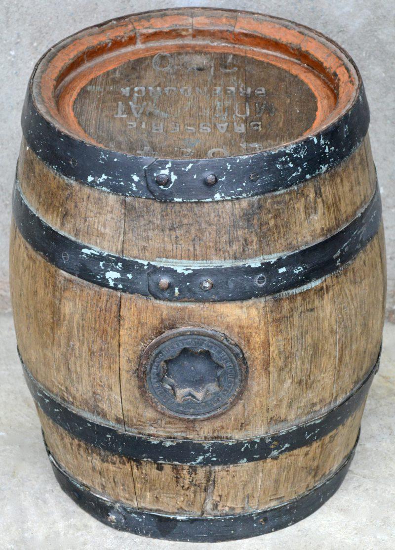 Een oud houten biervaatje van Brouwerij Moortgat te Breendonk.