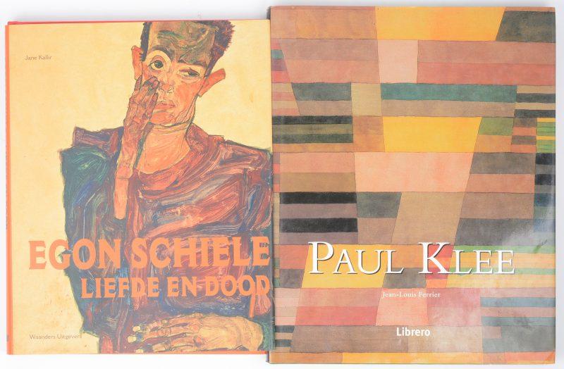 """Twee kunstboeken:- Jean-Louis Ferrer. """"Paul Klee"""". Ed. Librero 2001. Met stofwikkel. Zeer goede staat.- Jane Kallir. """"Egon Schiele, liefde en dood"""". Ed. Waanders Zwolle & Van Gogh Museum. Met stofwikkel. Zeer goede staat."""
