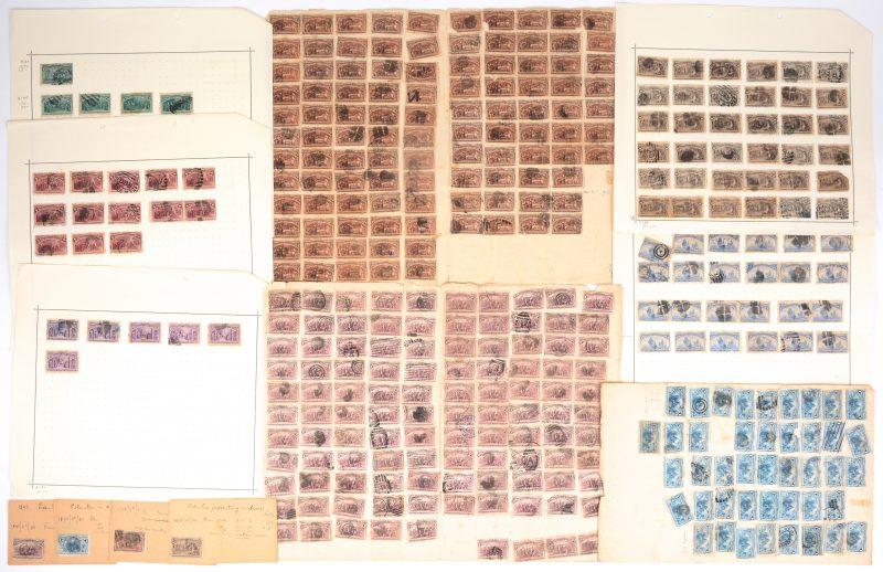 U.S. Postage 1893. 400 jaar Ontdekking van Amerika. Overwegend gefrankeerd, scharnieren, diverse letsels. 44 x 1ct, 165 x 2 ct (o.m. een vel van 6 stuks), 24 x 4 ct, 165 x 5 ct, 6 x 6 ct, 13 x 8 ct, 37 x 10 ct, 5 x 15 ct.