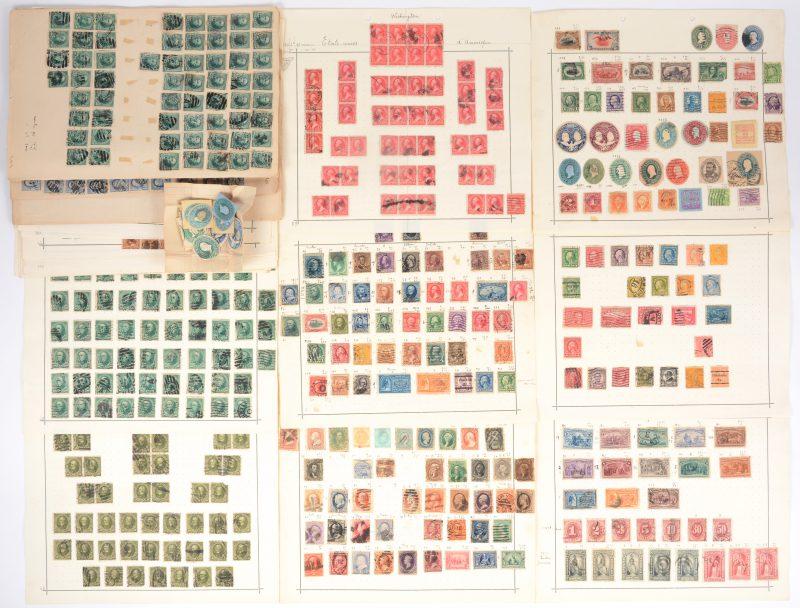 U.S. Postage ± 1850 - 1900. 400 jaar Ontdekking van Amerika. 10 zegels van 1 ct tot 30 ct. Diverse zegels en postkaartzegels, presidenten e.a. (180 st. met mogelijke gebreken). Presidenten en senatoren: Webster (10 ct, 26 x bruin, 124 x groen), Clay (43 x 15 ct), Grant (5 ct, 64 x blauw, 283 x bruin), Washington (1894, type III 86 x 2 ct, type II 90 x 2 ct, 1890-93, 146 x 2 ct), Franklin (1890, 60 x 1 ct).