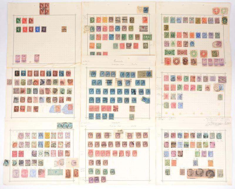 Postzegels. Groot-Brittannië en Gemenebestlanden. XIXde en begin XXste eeuw. 318 st, afgestempeld, diverse letsels.