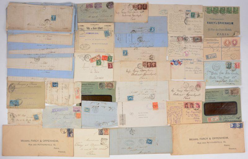 55 gefrankeerde brieven, Frankrijk, Australië, Berlijn enz. XIXde eeuw.