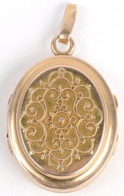 Vintage cabochon verre collier argent//noir//bronze Pendentifs ( photographe ) #319