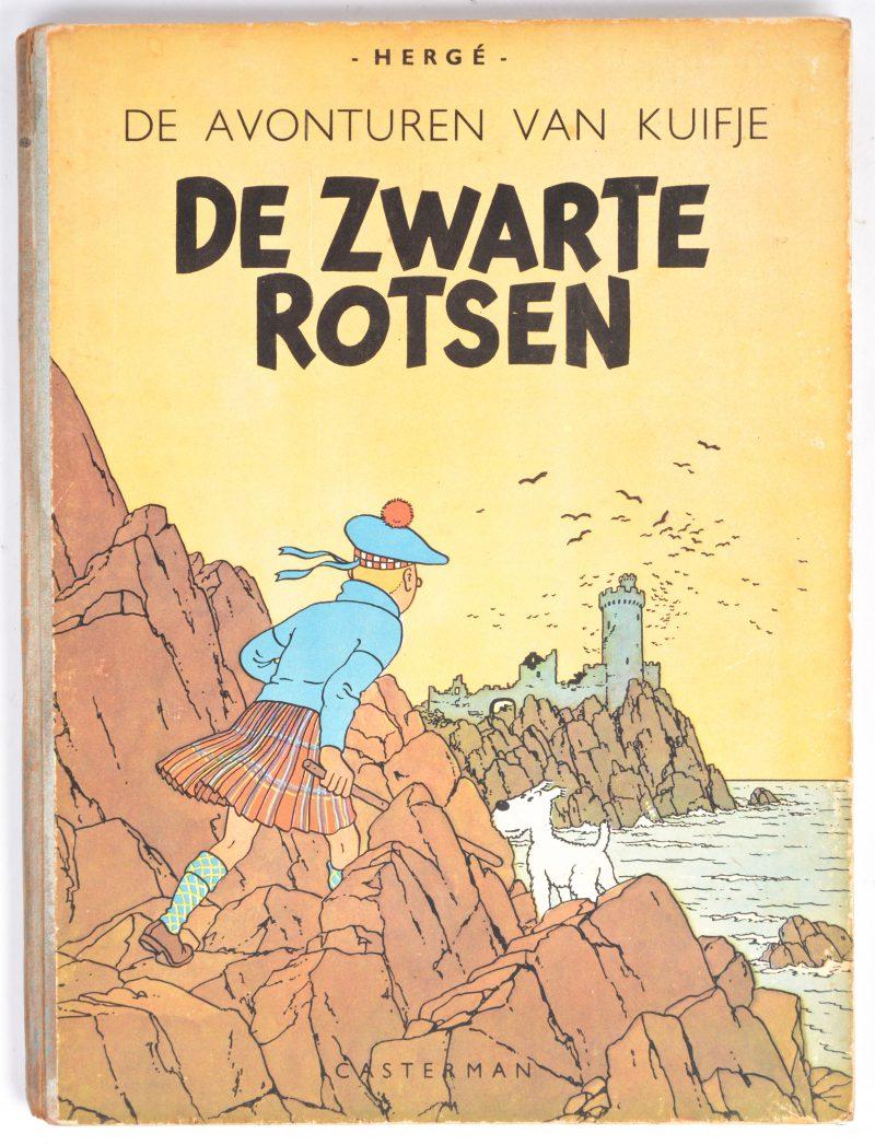 """""""De avonturen van Kuifje: De zwarte rotsen"""". Ed. Casterman. Eerste uitgave, 1946. Goede staat."""