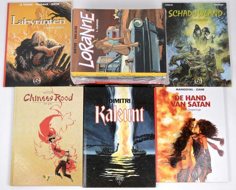 Een lot strips, bestaande uit 8 albums van uitgeverij Blitz, 3 albums van uitgeverij Vinci en 13 albums van uitgeverij Talent.