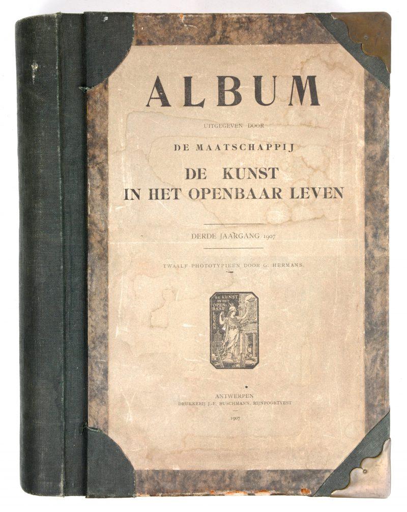 """""""Kunst in het openbare leven"""". Ed. Buschman, Antwerpen. Negen gebundelde jaargangen. 1903 - 1913."""