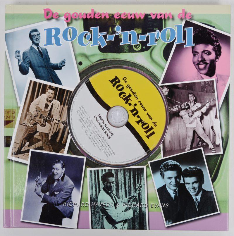 """""""De gouden eeuw van de rock-'n-roll"""". Richard Havers & Richard Evans. Ed. Atrium. Alphen aan den Rijn, 2011. Inclusief cd."""