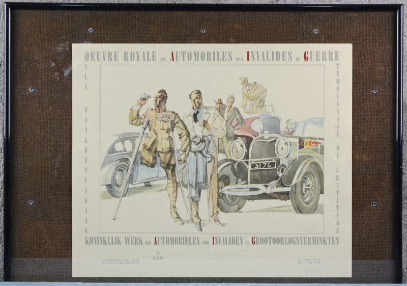 """""""Koninklijk werk der automobielen voor invaliden en grootoorlogsverminkten"""". Een dankbetuigingsdocument."""