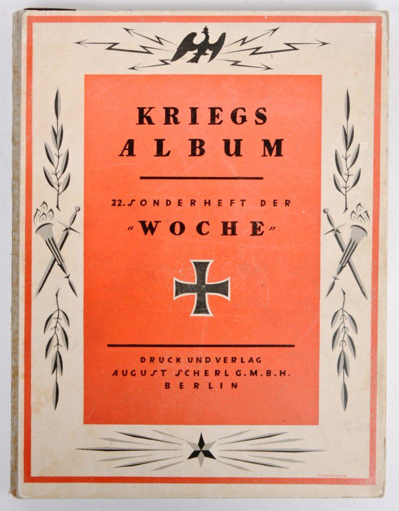 """""""Kriegsalbum"""". Een Duitse uitgave uit de Eerste Wereldoorlog."""