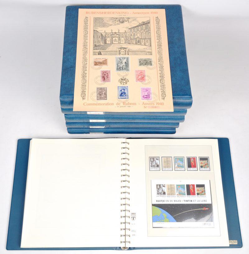 Een lot van zeven mappen met Belgische postzegels