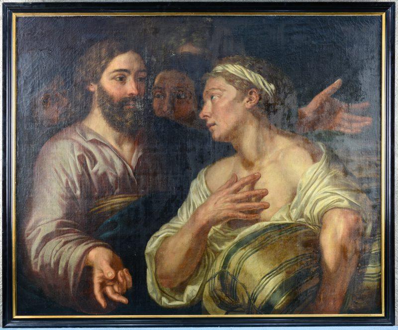 """""""De Verrijzenis"""". Olieverf op doek. Naar de Italiaanse School van de XVIIde eeuw."""